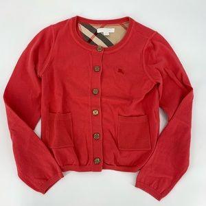 Burberry Girls Cardigan Sweater